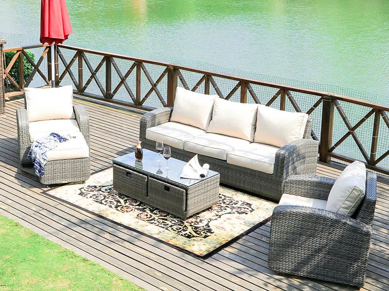 rotting kurv moderne utendørs sofa sett møbler fabrikk ...